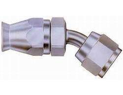 Aeroquip - Aeroquip Steel Reusable #4 Teflon Hose to Female -04 45° Fitting