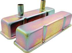 Allstar Performance - Allstar Performance SB Chevy Steel Tall Valve Covers - Deluxe Zinc Plated