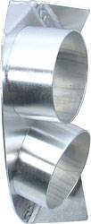 Allstar Performance - Allstar Performance RH Dual Aluminum Spindle Duct