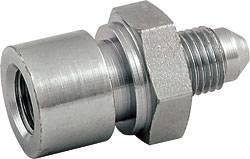 """Allstar Performance - Allstar Performance Steel Brake Line Adaptor Fitting -03 AN to 3/16"""" Brake Line - 2pk"""