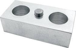 "Allstar Performance - Allstar Performance Billet Aluminum Lowering Block - 1-1/2""H x 2-1/2""W x 5"" L - 9/16"" Pin Diameter"