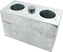 "Allstar Performance - Allstar Performance Billet Aluminum Lowering Block - 3""H x 2-1/2""W x 5"" L - 9/16"" Pin Diameter"