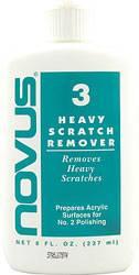 Novus Plastic Polish - Novus Plastic Polish #3 - Heavy Scratch Remover - 8 oz. Bottle