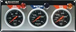 Allstar Performance - Allstar Performance Auto Meter Sport-Comp 3 Gauge Panel - OP/WT/OT