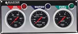 Allstar Performance - Allstar Performance Auto Meter Sport-Comp 3 Gauge Panel - OP/WT/FP