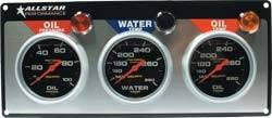 Allstar Performance - Allstar Performance Auto Meter Pro-Comp Liquid-Filled 3 Gauge Panel - WT/OP/OT