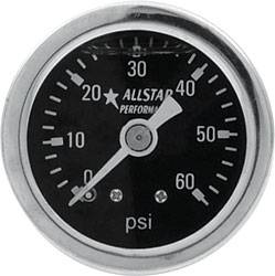 "Allstar Performance - Allstar Performance 0-60 PSI 1-1/2"" Gauge - Glycerin Filled"