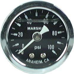 "Allstar Performance - Allstar Performance 0-100 PSI 1-1/2"" Gauge - Glycerin Filled"