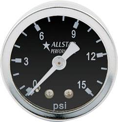 "Allstar Performance - Allstar Performance 0-15 PSI 1-1/2"" Gauge"