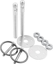 """Allstar Performance - Allstar Performance Aluminum Hood Pin Kit - Silver - 3/8"""" Diameter"""