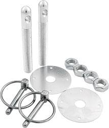 "Allstar Performance - Allstar Performance Aluminum Hood Pin Kit - Silver - 1/2"" Diameter"
