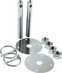 "Allstar Performance - Allstar Performance Steel Hood Pin Kit - 1/2"" Diameter"