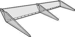 "Allstar Performance - Allstar Performance Adjustable Clear Lexan Rear Spoiler - 12"" x 72"""