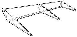 "Allstar Performance - Allstar Performance Adjustable Clear Lexan Rear Spoiler - 5"" x 72"""