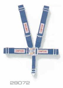 "Simpson Race Products - Simpson 5 Point Latch F/X System - 62"" Wrap Around - Individual Shoulder Harness - Pull Down Adjustment"