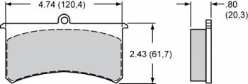 "Wilwood Engineering - Wilwood Polymatrix ""E"" Compound Brake Pads - Fits Superlite II, III"