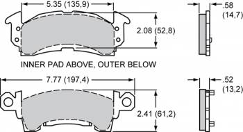 "Wilwood Engineering - Wilwood Polymatrix ""H"" Compound Brake Pads - Fits GM III Calipers"