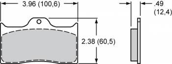 "Wilwood Engineering - Wilwood Polymatrix ""H"" Compound Brake Pads - Fits Dynalite"