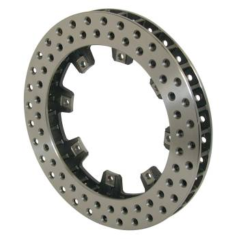 "Wilwood Engineering - Wilwood Ultralite 32 Vane Drilled Rotor - 11.75"" Diameter - 1.25"" Width - 8 x 7.00"" Bolt Circle - .325"" Hole Type - 8.34"" Far Side I.D. - 6.38"" Lug I.D. - 7.7 lbs."
