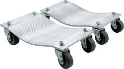 "Allstar Performance - Allstar Performance Aluminum Wheel Dollies (1"" Pair) w/ Standard Casters"