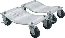 "Allstar Performance - Allstar Performance Aluminum Wheel Dollies (1"" Pair) w/ Deluxe Casters"