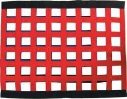 "Allstar Performance - Allstar Performance Border Style Ribbon Window Net - 18"" x 24"" - Red"