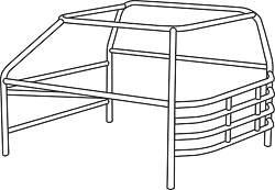 Allstar Performance - Allstar Performance Standard Economy Roll Cage Kit - Mini-Stock
