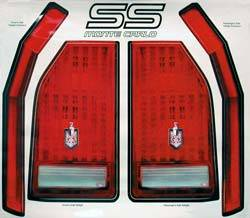 "Allstar Performance - Allstar Performance 84-87"" Monte Carlo SS Rear Bumper Tail Light Decal Kit"