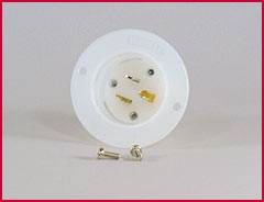 QuickCar Racing Products - QuickCar Male Recessed Outlet - 110 Volt