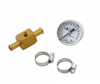 Mr. Gasket - Mr. Gasket Fuel Pressure Gauge w/ In-Line Adapter