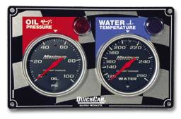 QuickCar Racing Products - QuickCar 2 Gauge Panel w/ Auto Meter Sport Comp Gauges - OP/WT