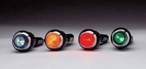 "QuickCar Racing Products - QuickCar Warning Light - 3/4"" - Green"