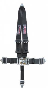 G-Force Racing Gear - G-Force Pro Series Latch & Link 5 Point Restraint System - V-Type Shoulder Harness, Pull-Down Lap Belt - Bolt-In - Red
