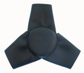 Kirkey Racing Fabrication - Kirkey Sprint Center Steering Pads - Black Vinyl