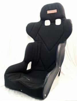 "Kirkey Racing Fabrication - Kirkey 47 Series Intermediate Road Race 17"" Black Knit Seat Cover (Only)"