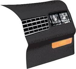 Allstar Performance - Allstar Performance 1983-88 Monte Carlo SS Nose Black - Right (Only)