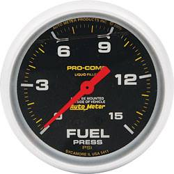 "Allstar Performance - Allstar Performance 2-5/8"" Auto Meter Fuel Pressure Gauge - Pro Comp - 15 PSI"