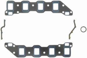 "Fel-Pro Performance Gaskets - Fel-Pro Printoseal Performance Intake Manifold Gaskets - Cut to Fit - 1.85-3.03"" x 1.38-1.66"" Port - .060"" Thick - SB Chevy, Aluminum Dart, Buick Heads"