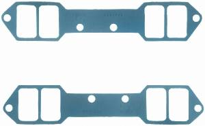 "Fel-Pro Performance Gaskets - Fel-Pro Intake Manifold Gaskets - Steel Core Laminate - 2.15"" x 1.25"" Port - .060"" Thick - Chevy 18° - SB"