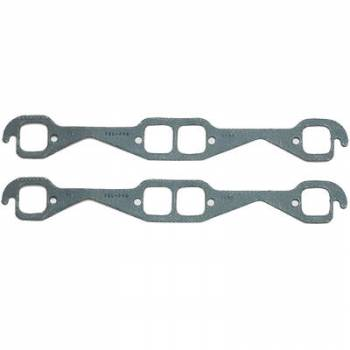 Fel-Pro Performance Gaskets - Fel-Pro Exhaust Header Gaskets - Steel Core Laminate - Round Port - SB Chevy - Hooker, Stahl Adapter
