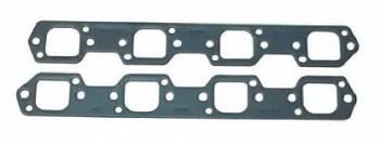 Fel-Pro Performance Gaskets - Fel-Pro Exhaust Header Gaskets - Steel Core Laminate - Trick Flow R-Port - SB Ford - Trick Flow R Heads