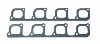 Fel-Pro Performance Gaskets - Fel-Pro Exhaust Header Gaskets - Steel Core Laminate - Yates SVO Port - SB Ford - SVO Yates Heads