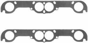 Fel-Pro Performance Gaskets - Fel-Pro Exhaust Header Gaskets - Steel Core Laminate - Round Port - Chevy - SB - 18° Adapter Plate