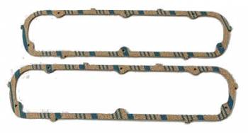 Fel-Pro Performance Gaskets - Fel-Pro Blue Stripe Valve Cover Gaskets - Blue Stripe Cork, Rubber - Ford, Lincoln, Mercury - SB, 351W 1962-87 - 3, 16""