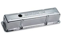 Moroso Performance Products - Moroso Stamped Steel Valve Covers - Chrome Plated - SB Chevy - Tall Design