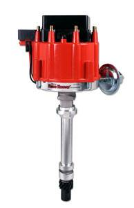 PerTronix Performance Products - PerTronix Flame-Thrower Street/Strip HEI Distributor - Cast Housing - Magnetic Pickup - Vacuum Advance - Red Cap - Chevy Big, SB