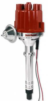 PerTronix Performance Products - PerTronix Flame-Thower Billet Distributor - Magnetic Pickup - Vacuum Advance - Red Socket Cap - Chevy Big, SB
