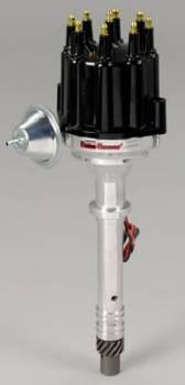 PerTronix Performance Products - PerTronix Flame-Thower Billet Distributor - Magnetic Pickup - Vacuum Advance - Black Male Terminal Cap - Chevy Big, SB