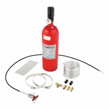 Firebottle Safety Systems - Fire Bottle Fire Suppression System - 5 Lb - Pull, Cable Activated - Aluminum - Dupont FE36 (NASCAR Approved)