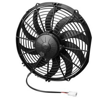 "SPAL Advanced Technologies - SPAL 12"" Pusher High Performance Electric Fan - Curved Blade - 1360 CFM"